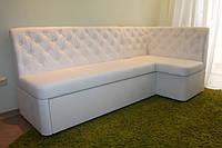 Кухонный уголок со спальным местом и ящиком под заказ любого размера (Белый)