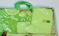 Салатовый комплект одежды для новорожденных из 7 предметов, хлопок, Турция