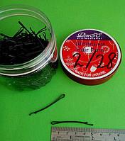 Невидимки для волос черные , 5 см,(1 уп 200 шт), дуга