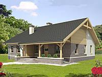 Проект дачного  дома hd 56-4