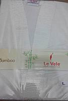 Халат Le vele бамбуковое волокно кремовый Турция
