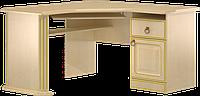 Стол компьютерный, угловой, с тремя выдвижными ящиками и полочкой под клавиатуру разм 76х67х120см Флоренция