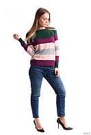 Молодежный джемпер в цветные полоски