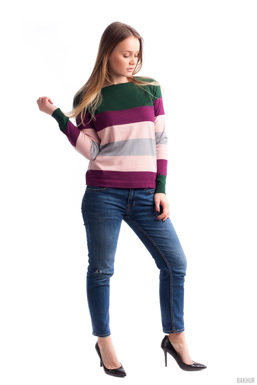 """Молодежный джемпер в цветные полоски - Интернет-магазин одежды """"Дива-Александра"""" в Хмельницком"""