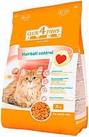 Клуб 4 лапы Plus Hairball Control корм для взрослых кошек, выведение шерсти, 3 кг