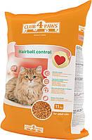 Клуб 4 лапы Plus Hairball Control корм для взрослых кошек, выведение шерсти, 11 кг