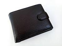 Мужской  кошелек натуральная кожа cверху чорный, фото 1