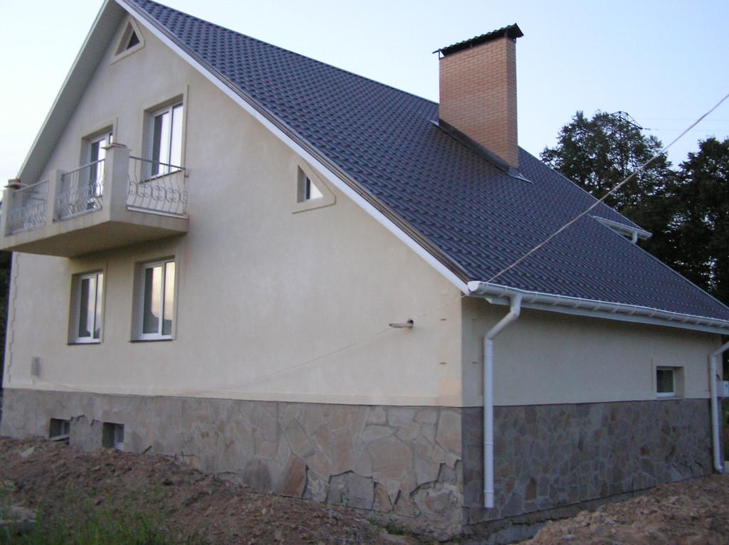 Дом из красного строительного кирпича 5