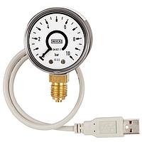 Манометр с трубкой Бурдона и с интерфейсом USB модель PGT10 USB