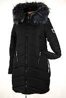 Куртка зимняя с меховым капюшоном LEKA
