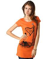 Туника летняя Париж оранжевая, фото 1