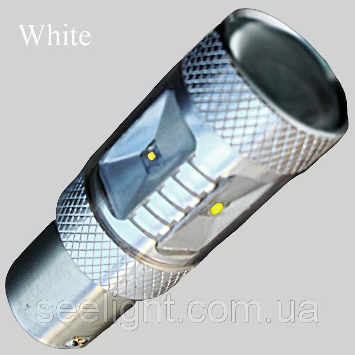 Светодиодная лампа в задний ход автомобиля с цоколем 1156(P21W) Cree-30W 10-30V-Белый