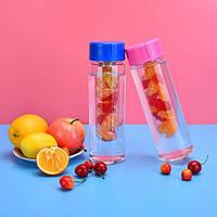 Бутылка для воды Fruit Bottle с ёмкостью для фруктов.