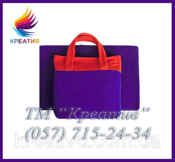 Плед флисовый в сумке из флиса с возможностью брендирования (от 50 шт.)