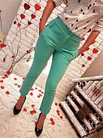 Женские укороченные брюки дудочки Норма Цвета ат656 GD