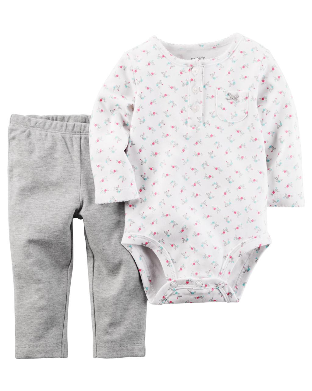 Комплект одежды Carters для девочки боди и штаны