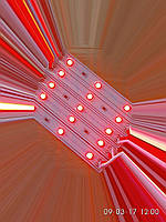 Светодиодный модуль smd3528 lux красные