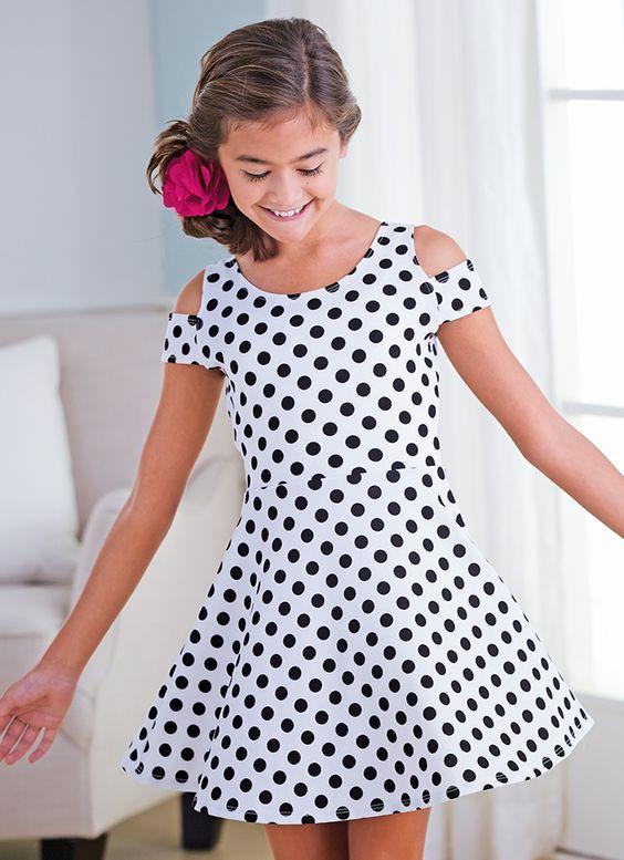 Подростковое платье Салли (принт горох)