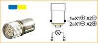 Світлодіод -2 кольори- 24 В DC, колір 1-синій, 2-жовтий, для пристроїв керування та сигналізації з підсвіткою