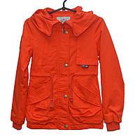 Парка для девочки 6-10 лет RUIX оранжевая