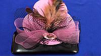 Шляпка на уточках Бантик розовый
