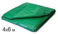 4х6 м - Тент Тарапулин зелёный