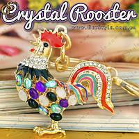 "Брелок Хрустальный петушок - ""Crystal Rooster"" , фото 1"
