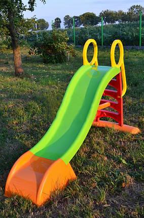 Горка детская пластиковая Mochtoys 180 см, фото 2