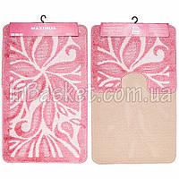 "Комплект ковриков в ванную 60х100 см ""Pink lily"""