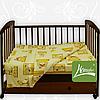 Комплект постельного белья бязь голд  в кроватку , цв. салатовый с рисунком