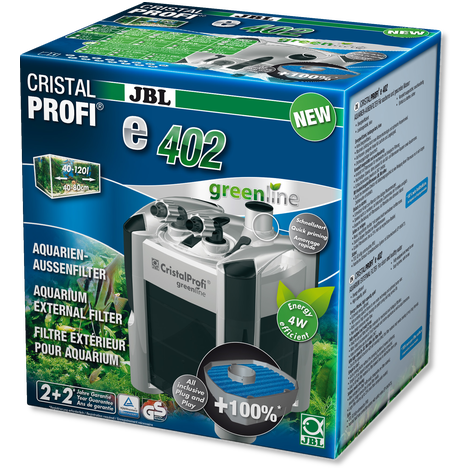 JBL GreenLine e402 Внешний фильтр для аквариума 40-120 л - 450 л/ч