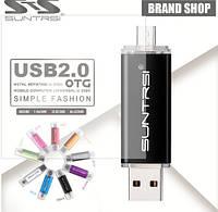 Флешка SUNTRSI, microUSB (OTG) -USB 2.0, 16Gb