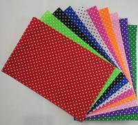 Фетр кольоровий в горох (друга сторона - просто колір), набір 10 арк. 20 * 30 см різн. кольору; жорсткий, 1 мм