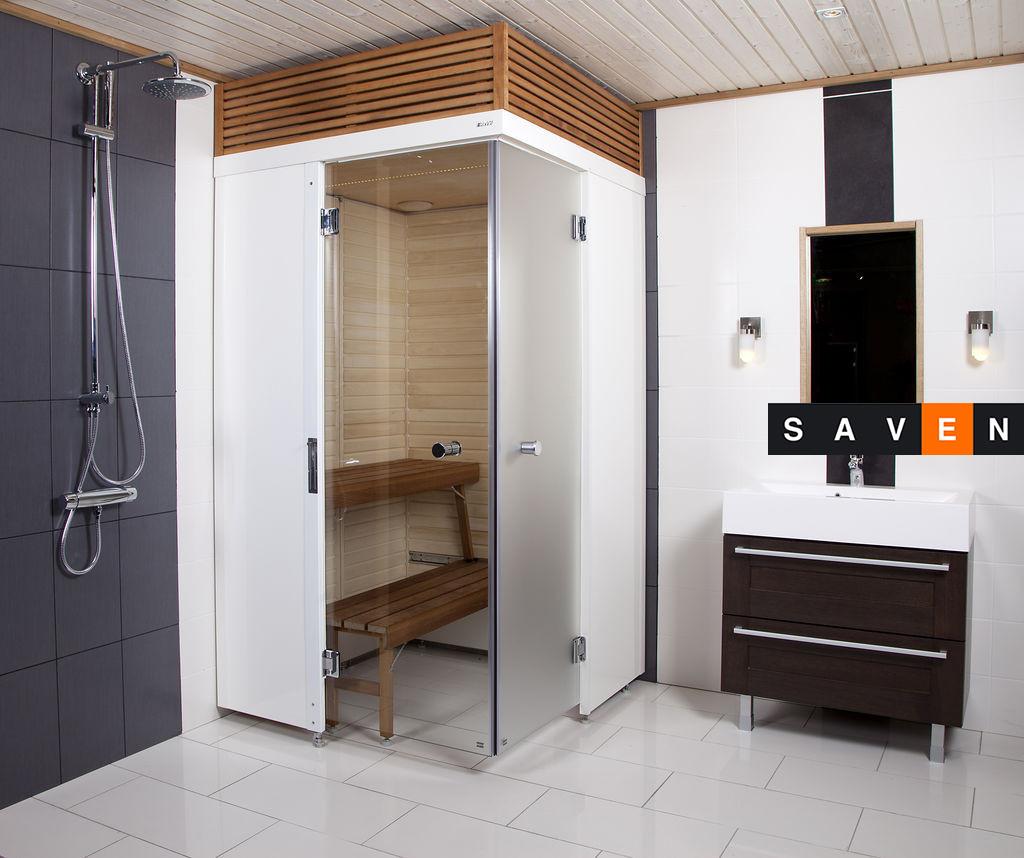 Сауна для ванной комнаты Harvia SmartFold правая