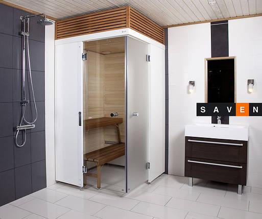 Сауна для ванных комнат Трубы подвода воды  с горизонтальной опорной рамой - Пара, цвет Хром