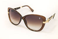 Женские очки от солнца в коричневой оправе