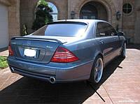 Бленда козырек спойлер на заднее стекло Mercedes W220 стиль lorinser