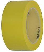 3М 471 Контурная эластичная лента ПВХ односторонняя 6мм х 33м, желтая
