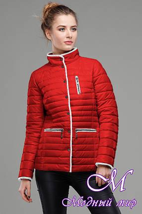 Женская красная демисезонная куртка (р. 42-56) арт. Селена, фото 2
