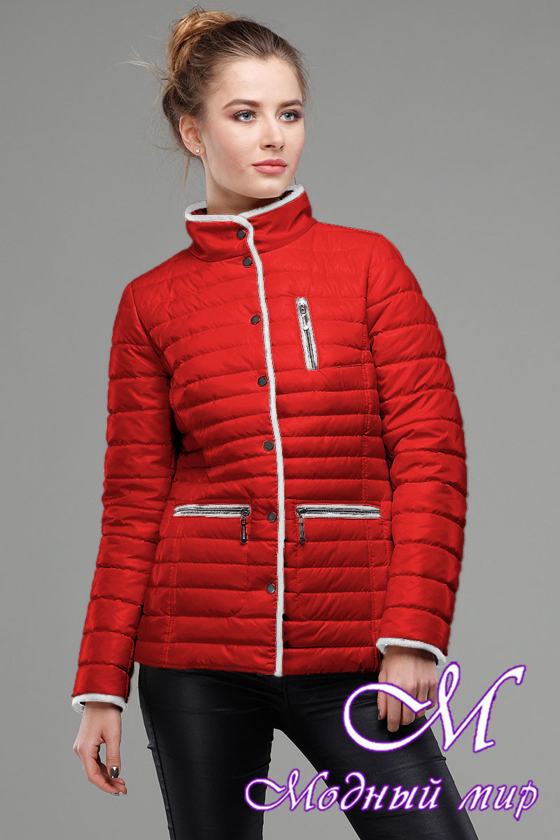 Женская красная демисезонная куртка (р. 42-56) арт. Селена