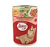 Консервы Мяу! для кошек c кроликом в нежном соусе, 415 г
