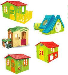 Детские игровые домики, горки, песочницы, качели