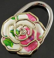 Крючок держатель для женской сумки Роза