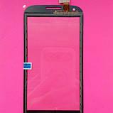 Сенсорний екран для Fly IQ4406 Era Nano 6, чорний, фото 2