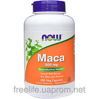 Мака Now Foods, Maca, 500 mg, 250 капсул