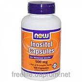 Инозитол (Витамин B-8) 500 мг, Inositol, Now Foods, 100 капсул