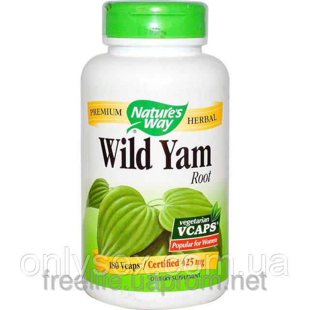 Корень дикого ямса, 425 мг, 180 капсул, Wild Yam Root, Nature's Way  - onlysex в Киеве
