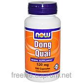 Дягиль лекарственный (Донг Ква), Dong Quai, Now Foods, 520 мг, 100 капсул