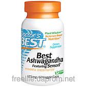 Ашваганда, Doctor's s Best, 125 мг, 60 капсул