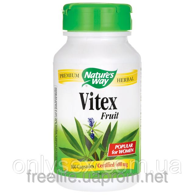 Витекс Гормональная поддержка для женщин, Nature's Way Vitex, 400 мг, 100 капсул